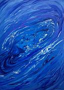 Drown Digital Art - Waves of Blue by Kevin Middleton