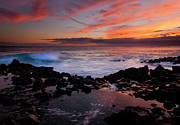 Red Sky Prints - Waves of Paradise Print by Mike  Dawson