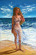 Figure Pose Paintings - Waves by Yelena Rubin