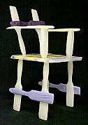 Purple Sculpture Prints - Wax Chair Print by Karen  Peterson