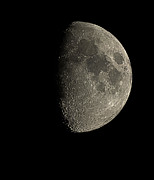 Eight Days Prints - Waxing Gibbous Moon Print by Eckhard Slawik