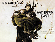 Griffith Framed Prints - Way Down East, From Left Lillian Gish Framed Print by Everett