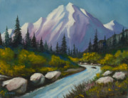 Mountaintop Paintings - Way Up North by Charles Yates