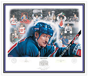 Signed Mixed Media - Wayne Gretzky 1999 - Limited Edition by Daniel Parry