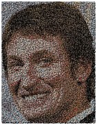 Pucks Digital Art Posters - Wayne Gretzky Hockey Puck Mosaic Poster by Paul Van Scott