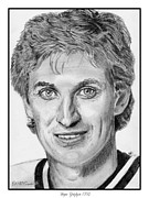 National League Drawings Acrylic Prints - Wayne Gretzky in 1992 Acrylic Print by J McCombie