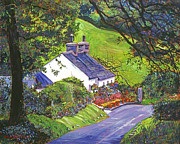 English Cottages Prints - Wayside House Print by David Lloyd Glover
