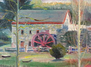 18th Century Painting Originals - Wayside Inn Mill 2 by Sid Solomon
