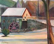 Wayside Inn Mill Print by Sid Solomon