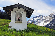 Wayside Photos - Wayside Shrine in the mountains by Matthias Hauser