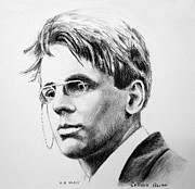 William Drawings - W.B. Yeats by Colleen Quinn