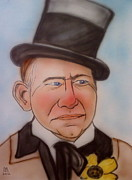Caricature Drawings Posters - W.C. Fields Poster by Pete Maier