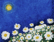 Impressionistic Digital Art - We Are Daisies by Laura Brightwood