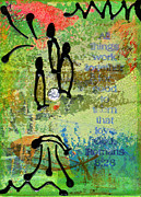 Grief Therapy Mixed Media - We Believe Romans 8 28 by Angela L Walker