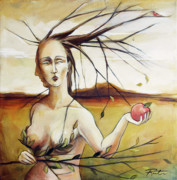 Eve Paintings - We Carry Knowledge by Jacque Hudson-Roate