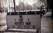 Bourke White Prints - We Cut Haters Hair Print by Doug  Duffey
