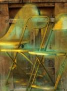 Chairs Digital Art Prints - We Dont Talk Anymore  Print by Bob Salo