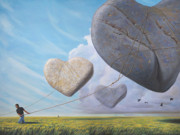 Stones Painting Originals - We Hoisted Our Dreams into the Light of Another Sun by Paul Bond