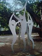 Creative Sculptures - We Love Dancing With Moon by Somesh  Singh