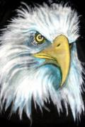 Eagle Tapestries - Textiles Prints - We mean it Print by Barbara Kelley