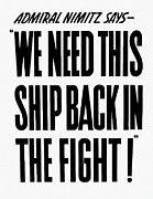 We Need This Ship Back In The Fight  Print by War Is Hell Store