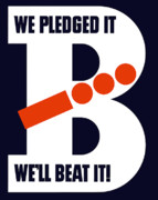 Victory Digital Art Posters - We Pledged It Well Beat It Poster by War Is Hell Store