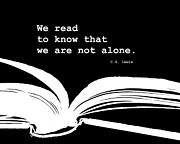 Alone Digital Art - We Read by Marianne Beukema