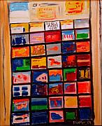 Tourist Painting Originals - We Sale Stamps by Scott Plaster