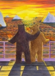 Bears Framed Prints - We should do this more often Framed Print by Catherine G McElroy