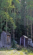 Outhouses Metal Prints - We Stand Together Metal Print by Capology Fare