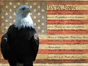 We The People Posters - We the Eagle Poster by Geri Chamberlin