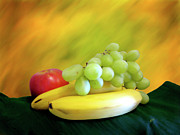 Yellow Bananas Prints - We Three Print by Kurt Van Wagner
