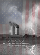 September 11 2001 Metal Prints - We Will Never Forget  the Victims their Families and Heroes Metal Print by James Bo Insogna
