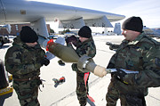 Paveway Posters - Weapons Crews Prepare A Gbu-12 Laser Poster by HIGH-G Productions