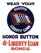 Liberty Digital Art - Wear Your Honor Button by War Is Hell Store