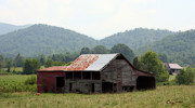 Tennessee Farm Digital Art Prints - Wears Valley Barn Print by Barry Jones
