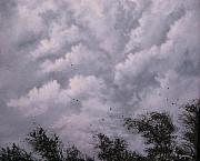 Storm Clouds Painting Originals - Weather Alert by Tom Shropshire