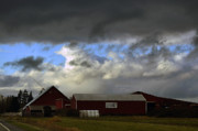 Bruster Photo Prints - Weather Threatening The Farm Print by Clayton Bruster