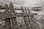 Boat Slip Posters - Weathered Poster by Debra and Dave Vanderlaan