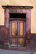 San Miguel De Allende Framed Prints - Weathered Door Framed Print by Carol Leigh