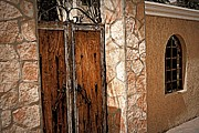 Peeling Stucco Posters - Weathered Gate  Poster by Marilyn Wilson