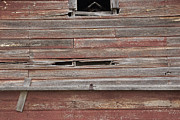 Abstracted Photo Framed Prints - Weathered Granary 2 Framed Print by David Kleinsasser