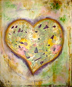 Distressed Mixed Media - Weathered Heart by Martina Schmidt