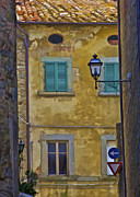 Traffic Sign Photos - Weathered Home of Tuscany by David Letts