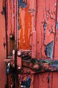 Old Door Prints - Weathered Lock Print by John Short