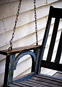 Debbie Karnes Framed Prints - Weathered Porch Swing Framed Print by Debbie Karnes
