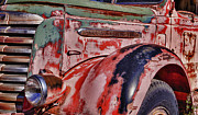 Gmc Posters - Weathered Red GMC Truck Poster by Forest Alan Lee