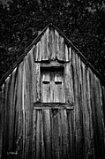 Barn Boards Prints - Weathered Structure - BW Print by Christopher Holmes