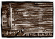 Sepia Art - Weathered Wall In Bodie Ghost Town by Steve Gadomski
