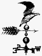 19th Century America Prints - WEATHERVANE, 19th CENTURY Print by Granger